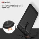 Cassa Shockproof del telefono del coperchio posteriore della fibra del carbonio di TPU per Nokia5
