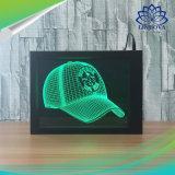 Photo Frame 3D ilusão de LED de luz nocturna da lâmpada de controle remoto candeeiro de mesa sensível ao toque para o Dia dos Namorados