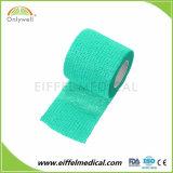 病院によって着色される伸縮性があるNon-Woven綿の凝集の包帯ISOのセリウムのFDA