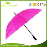 Печатание логоса хорошего промотирования погодостойкmNs яркий покрашенный зонтик изготовленный на заказ прямой