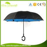 Automatische Open Hand Dichte 23inch X 8K Paraplu van de Vorm van C de Vrije Hand Omgekeerde