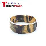Wristband di prossimità NFC del silicone di marchio 125kHz/13.56MHz dell'OEM, braccialetto personalizzato di RFID - Wristband - camuffamento