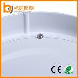 Aprobado CE RoHS de aluminio puro blanco redondo superficie de la lámpara del montaje del techo de 18W LED