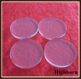 Hoja redonda clara de la placa de cristal de cuarzo para el curado ULTRAVIOLETA