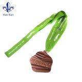 Förderung-kundenspezifisches Stutzen-Medaillen-Farbband für Weihnachtsdekorationen