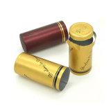 Cápsula encogible de oro del PVC para el embalaje de la vodka