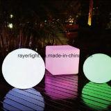 Changement de balle RVB décoration de jardin coloré PE boules d'éclairage