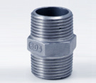 Montaje del tubo de acero inoxidable SS304 BSPT Tornillo de rosca NPT niple hexagonales de 1/4 pulg.