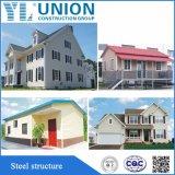 Prefab дом стальной структуры, киоск, гостиница, польза коробки Sentry и панельный дом материала стали