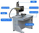 Metal de los tubos de máquina de marcado láser de fibra