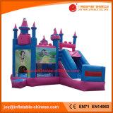 Aufblasbares springendes Prahler-Schloss mit dem riesigen Plättchen kombiniert (T2-498)