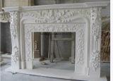 高品質の内部の装飾的のための大理石の石造り暖炉のマントルピース