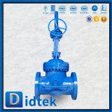 Didtek 18 válvula de porta do aço de liga Wc6 da polegada com válvula de desvio