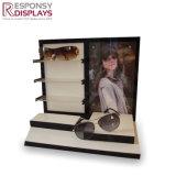 Soporte de visualización de madera de los vidrios de la tapa contraria de la caja de las gafas de sol del acrílico y del metal modificados para requisitos particulares