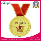 リボンが付いている特別で柔らかいエナメルの記念品メダル