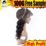 Наиболее поздно парик шнурка 180% бразильский Silk передний