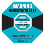 10g Shockwatch 2 de Gevoelige Sticker van de Bescherming van het Effect van de Schok van Goederen