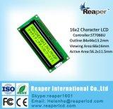 Type écran LCD vert jaunâtre d'ÉPI du caractère 16X2
