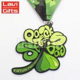 OEM personalizados 3D em relevo os Logotipos Flor Sport Medalha de metal na China