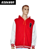 O velo feito-à-medida Hoody dos homens do Sportswear o revestimento Pocket, vermelho fecha acima Hoodie