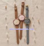 OEM van de Riem van het Leer van de legering de Klassieke Horloges van de Manier van de Luxe (wy-G17008B)