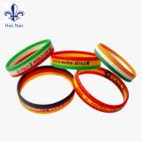 Bracelet pratique d'écran en soie de logo fait sur commande d'impression avec des silicones