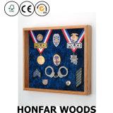 Weißer festes Holz-Dekoration-Kasten-Blatt-Probenmaterial-Schatten-Kasten-Rahmen