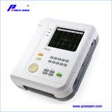 Machine de l'électrocardiographe ECG de la Manche de l'affichage à cristaux liquides 12 de Clor avec l'évaluation (EM1200B)