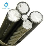 Baisse en aluminium quadruplex triple duplex de service et câbles secondaires