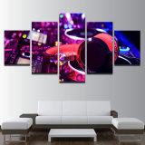 Los carteles enmarcan la lona de pintura impresa moderna musical de la sala de estar HD de los instrumentos del panel del arte 5 de la pared del cuadro de la decoración del hogar modular