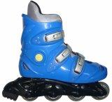 ローラースケートの赤いインラインスケートの大人の氷スケート