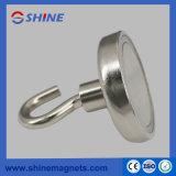 Magnet-Haken, Supermagnetischer runder niedriger Haken der kraft-Holding-5.5-164kg