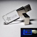 Disco de vidro 2GB 4GB 8 GB 16GB do USB do flash dos presentes elegantes com impressão do logotipo
