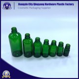 Bernsteinfarbiges/blaues Grün-Raum-Glastropfenzähler-Flasche mit Plastikschutzkappen