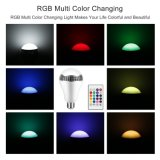Lámpara colorida de la música del altavoz LED de Bluetooth de la lámpara del bulbo del RGB para el hogar, etapa