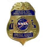 Настраиваемые высококачественной мягкой эмали Металлический бейдж полиции (XDBGS-317)