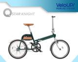 Bici plegable de la bicicleta de la potencia verde de la batería desmontable eléctrica de aluminio de la bicicleta