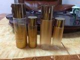 Bottiglia di olio cosmetica di plastica dell'animale domestico con colore dorato di pendenza