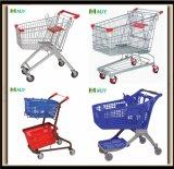 Chariot de chariot à achats en métal de supermarché de 60liters à 275 litres