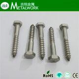 Galvanisierte Hex Kopf-selbstschneidende Sträfling-Schraube (DIN571)