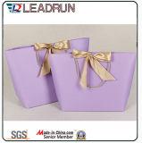 Druck-Papier-Einkaufen-Geschenk-Handfördernder überzogener Kunstdruckpapier-Träger-kosmetischer Schmucksache-Verpackungs-Beutel Brown-Kraftpapier (F60E)