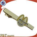 ファッションビジネスの昇進のギフトはカスタム設計する金属のちょうネクタイクリップ(FTTB2607A)を