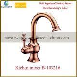 Rubinetto sanitario dorato della cucina dell'acqua degli articoli della Rosa