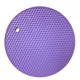 円形のシリコーンの滑り止めの耐熱性Placematの鍋つかみ