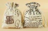 綿織物のリネンジュートのドローストリング袋の綿袋