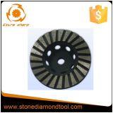 Эпоксидная смола абразивного диска чашки диаманта над бетоном и камнем