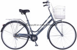 バスケットを持つCity Bike CT26ydn808 26inchの鋼鉄女性
