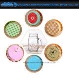 Soem-Großhandelsglasmaurer-Glas-Deckel, in gefärbt und Entwurf