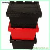 La plastica mobile prenota il contenitore da trasporto di memoria con i coperchi