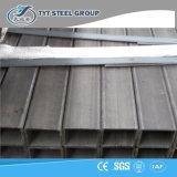 Grand dos noir de tube en acier d'ERW et tube en acier rectangulaire pour la construction et la vente en gros